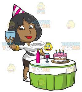 Black woman birthday clipart