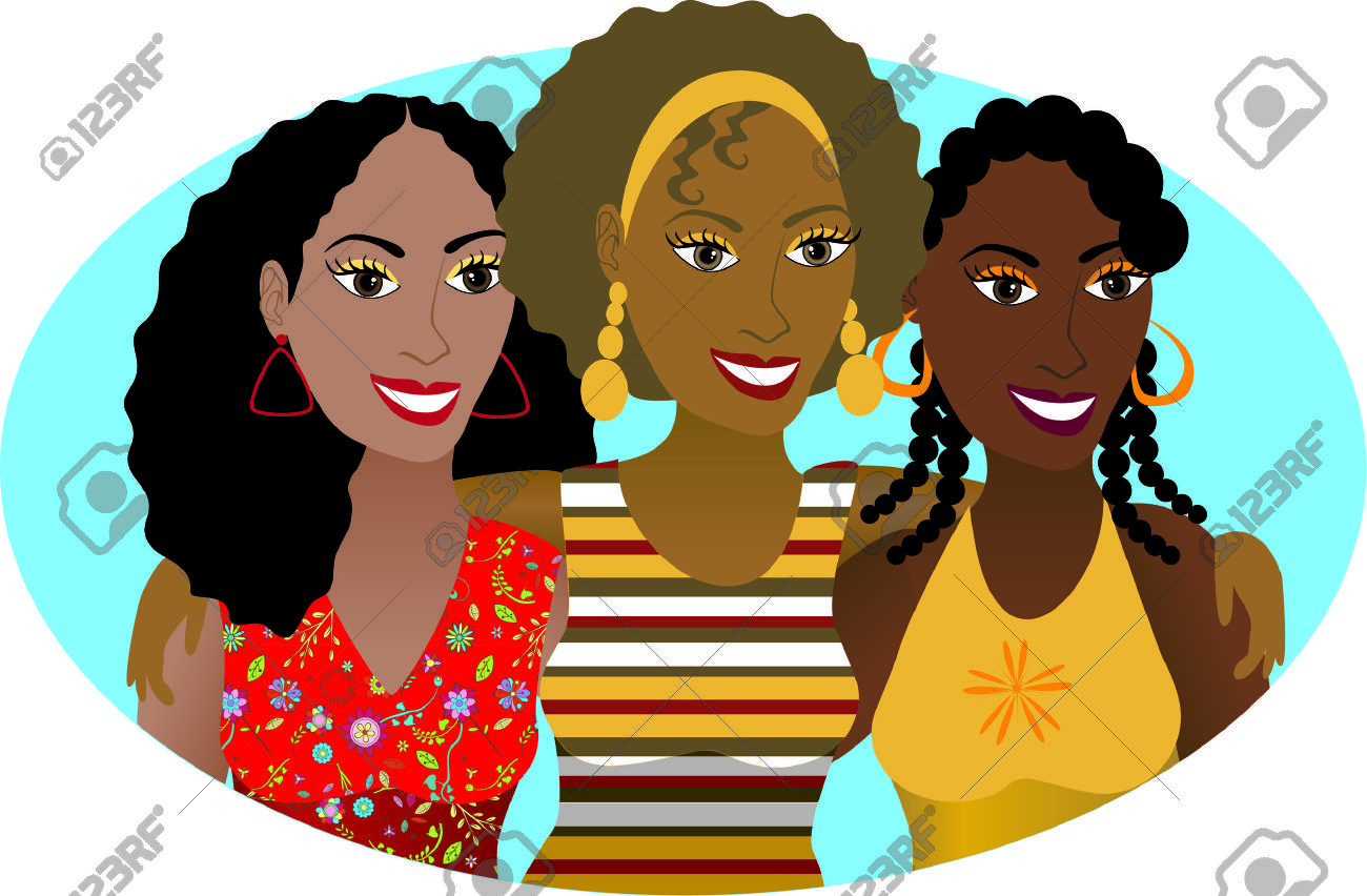 African american woman party clipart picture black and white library Free clipart of african american women 8 » Clipart Portal picture black and white library