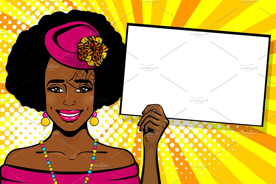 African american woman party clipart vector freeuse African-american black woman pop art vector freeuse