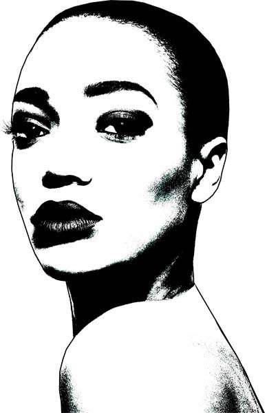 African american women face clipart png library Pin by Anne Baity-Sirmons on Artsy | Black women art, Bald women ... png library