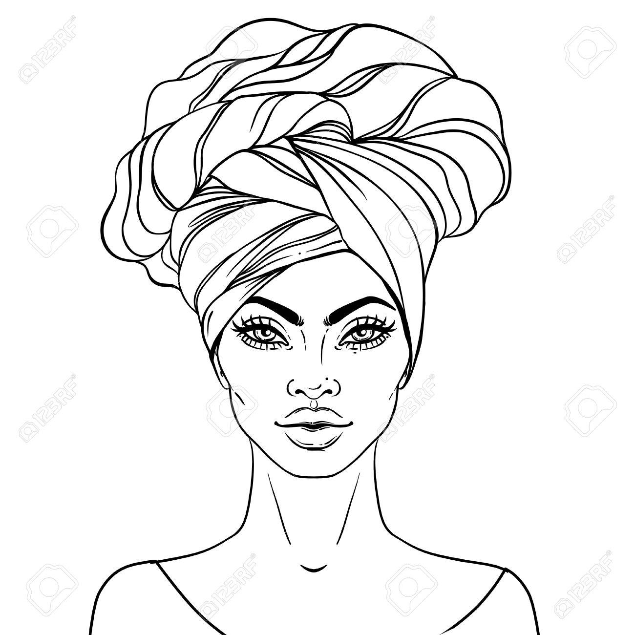 African american women face clipart vector free Free Clipart Of Pretty Black Woman & Free Clip Art Images #25616 ... vector free