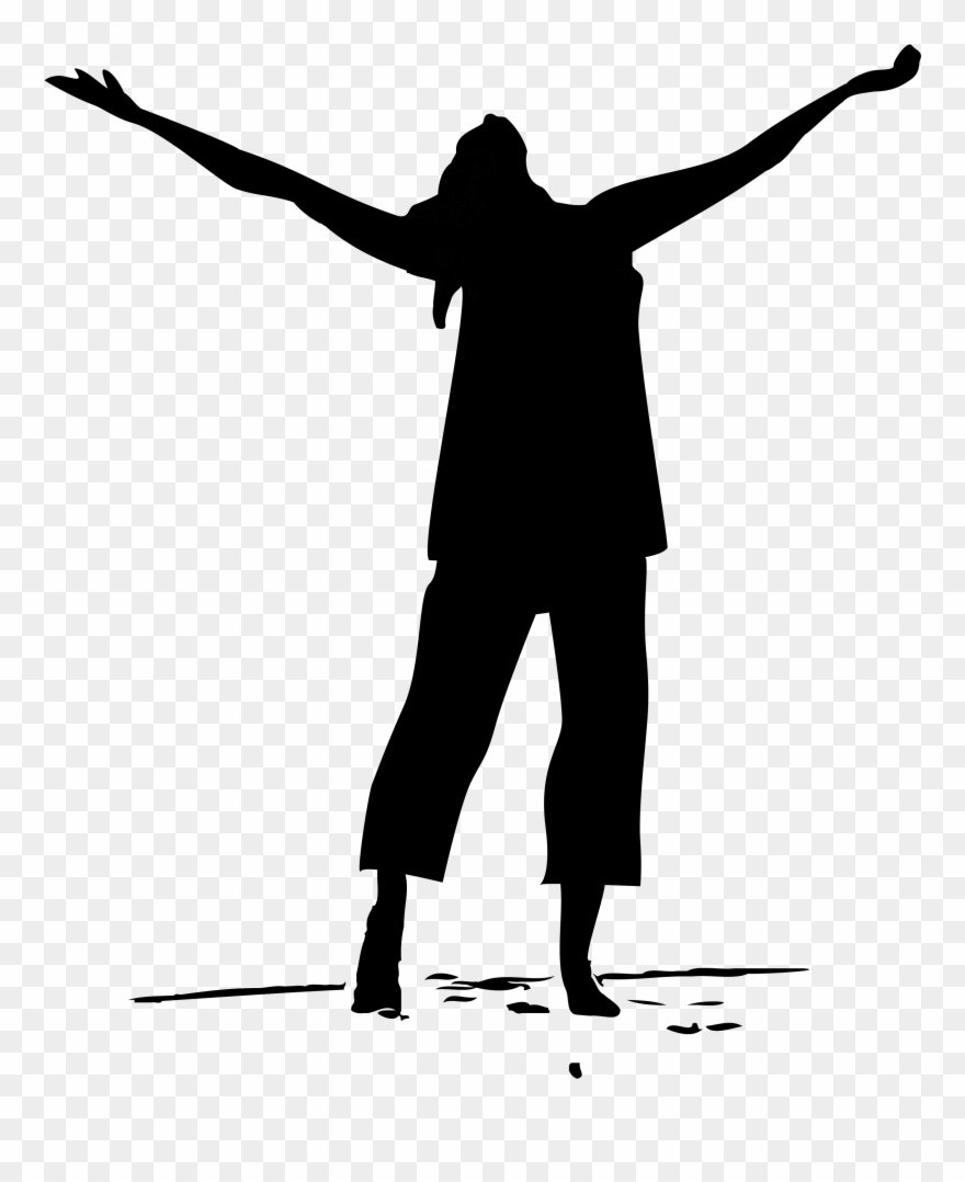 Women in praise clipart picture library download Pray Clipart African American - Woman In Praise Silhouette - Png ... picture library download
