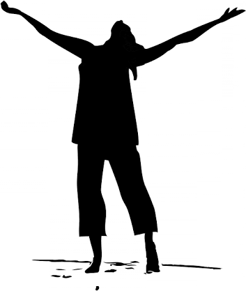 Women in praise clipart banner royalty free stock Silhouette People Praising Png & Free Silhouette People Praising.png ... banner royalty free stock