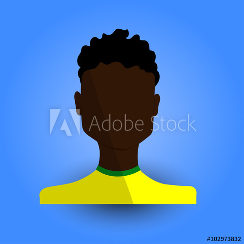 African american young man with afro clipart vector free library Cool and Artistic Avatar in Flat Design with a African or Black ... vector free library