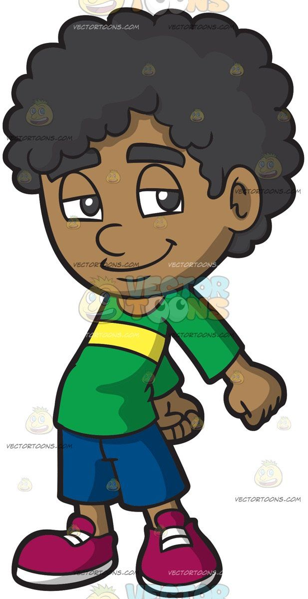 African american young man with afro clipart picture free A Young Boy Doing The Floss Dance: A black boy with curly hair ... picture free