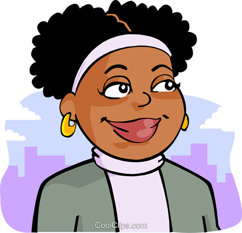 Africanamerican clipart clipart black and white library African-American woman Royalty Free Vector Clip Art illustration ... clipart black and white library