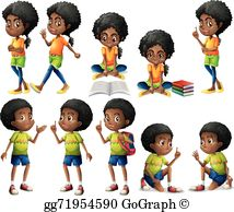 April ethnic kids clipart image freeuse download African American Clip Art - Royalty Free - GoGraph image freeuse download