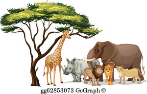 African anaminals clipart vector library library African Animals Clip Art - Royalty Free - GoGraph vector library library