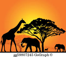 African anaminals clipart jpg black and white download African Animal Clip Art - Royalty Free - GoGraph jpg black and white download