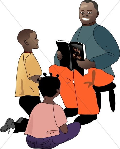 African bible clipart banner download African American Teacher and Students | Sunday School Clipart banner download