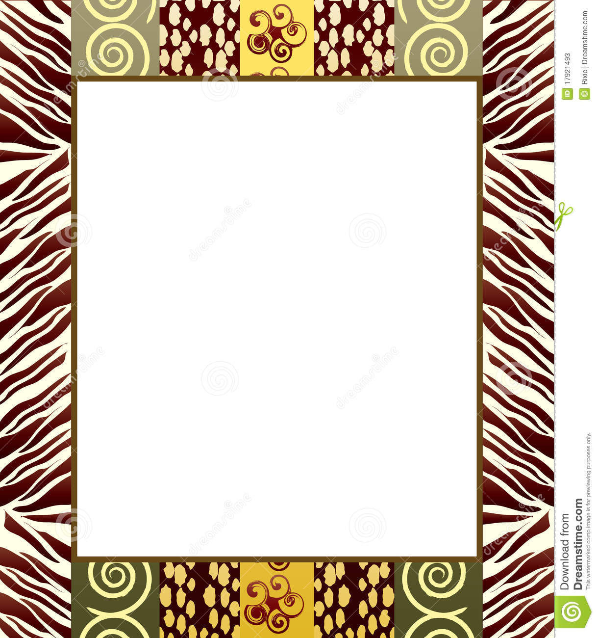 African border designs clipart jpg library stock Africa Border Cliparts - Making-The-Web.com jpg library stock