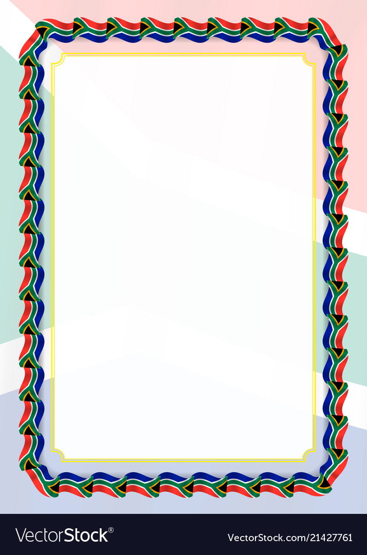 African border line clipart banner transparent library Frame and border of ribbon with south africa flag banner transparent library