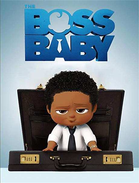 African boss baby clipart logo royalty free library Amazon.com : 5x7 African American Boss Baby Backdrop Birthday Black ... royalty free library