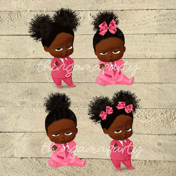 African boss baby clipart logo free download PINK African American Sassy Boss Baby Girl Babies of Color | Boss ... free download