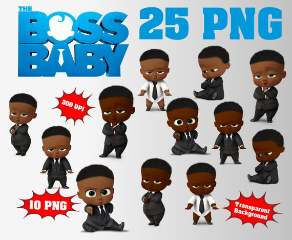 African boss baby clipart logo royalty free library African The Boss Baby Clipart Logo Included | 45 PNG 300 DPI ... royalty free library