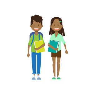 African brother and sister clipart png free african boy girl sister brother with books full length avatar on ... png free