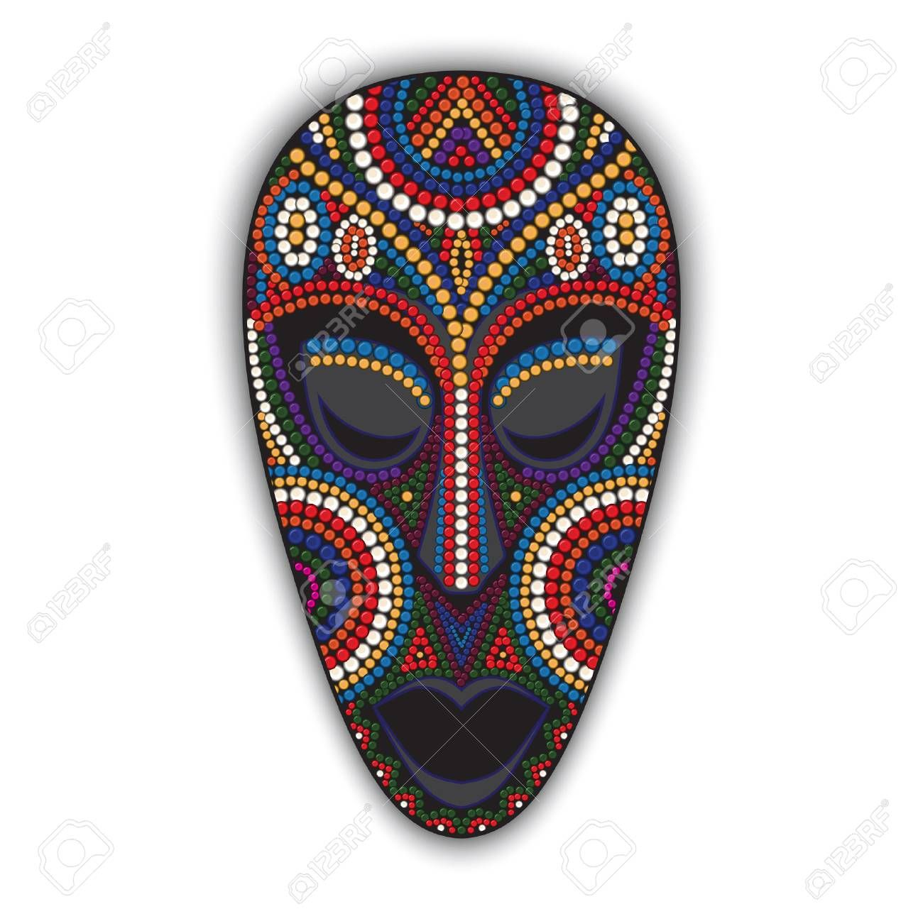 African cultural mask clipart clip art freeuse library Stock Vector | Sam | African masks, Mask painting, Ceramic mask clip art freeuse library