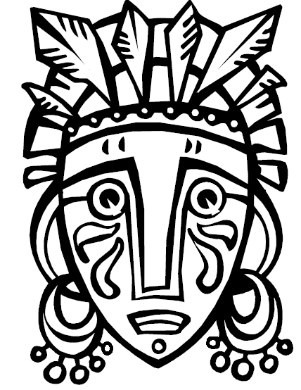 African cultural mask clipart image freeuse library Textures with Prills in an African Mask | Cultural Art Club ... image freeuse library