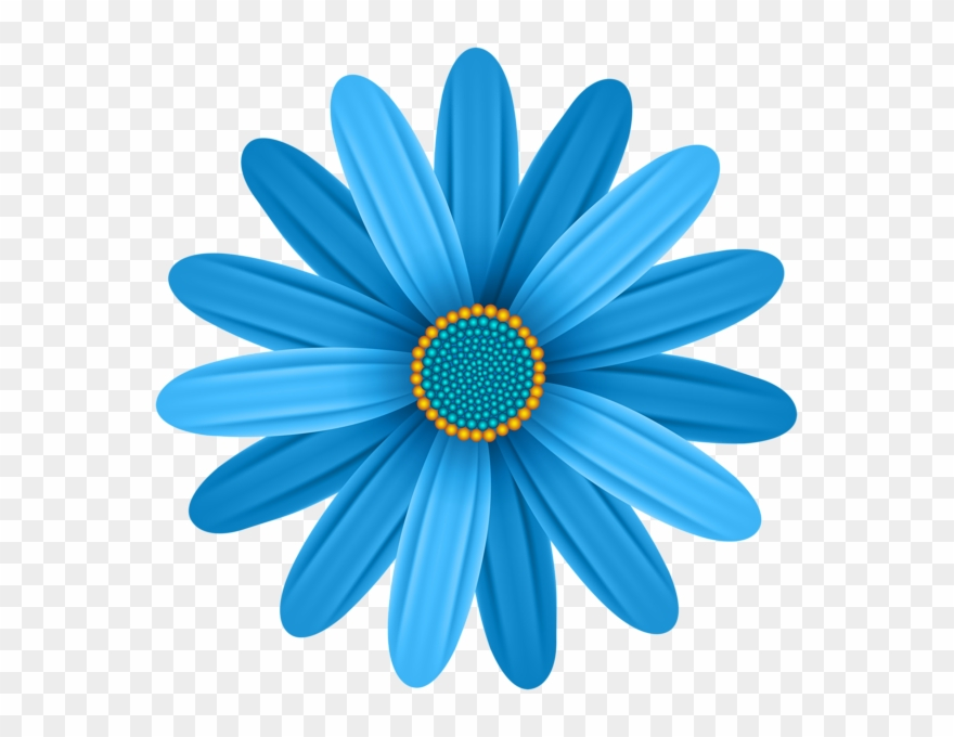 African daisy clipart svg royalty free stock Blue Flower Transparent Png Clip Art Image - African Daisy (#440344 ... svg royalty free stock