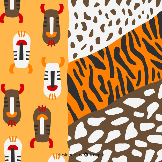 African fabric designs free clipart image free library African fabric and animal skin background Vector | Free Download image free library