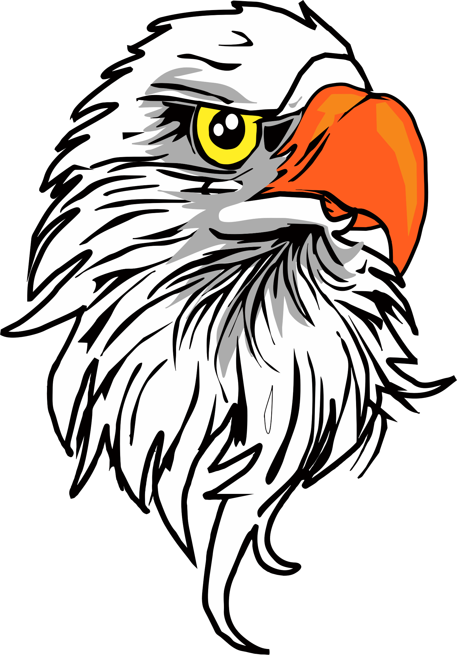 African fish eagle clipart picture black and white stock Images of Eagle Head Vector Png - #SpaceHero picture black and white stock