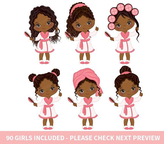 African girl clipart clipart png library download 90 Little Spa Girls Clipart - Vector Spa, Spa Party Clipart, Spa ... png library download