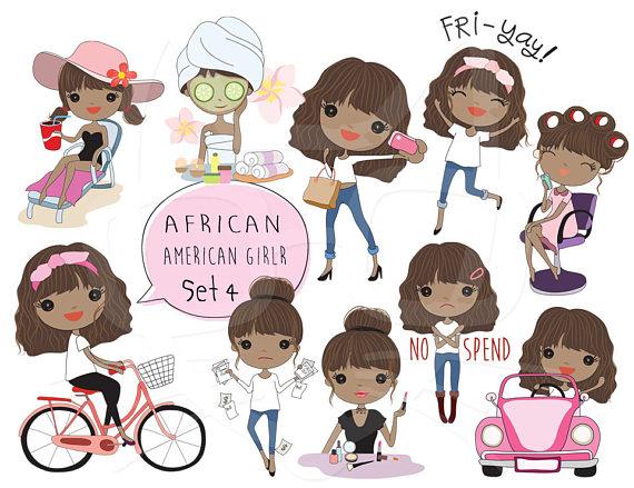 African girl clipart clipart clip art royalty free African American girl Clip art Black Girl clipart set 4 , instant ... clip art royalty free