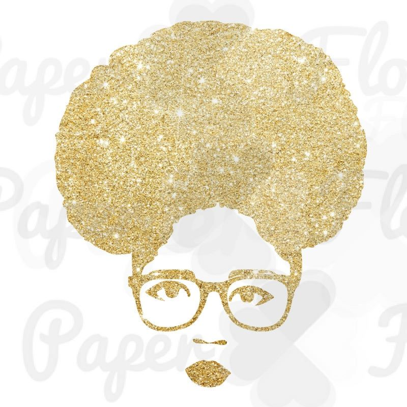 African girl sunglasses clipart png vector transparent download Afro Puff Woman PNG gold glitter face png glasses png puff black ... vector transparent download