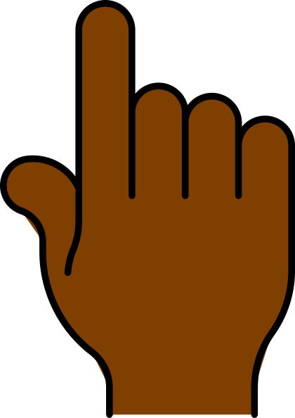 African hand clipart clip free library Hand Pointing African Clip Art At Clker Com Vector Online Complete ... clip free library