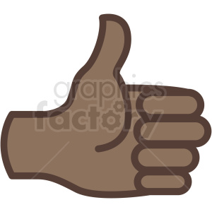 African hand clipart image stock african american thumbs up hand vector icon . Royalty-free icon # 406786 image stock