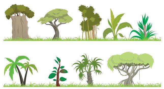 African jungle vine clipart image stock cartoon jungle trees clipart | summer illustration- africa | Jungle ... image stock