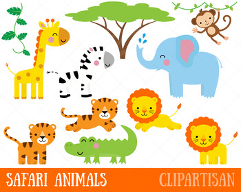 African jungle vine clipart vector library Safari Animals Clip Art | Jungle Animals | African Animals | Lion | Zebra vector library