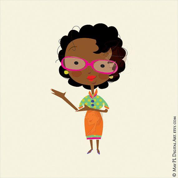 African american teacher classroom. Free black woman clipart