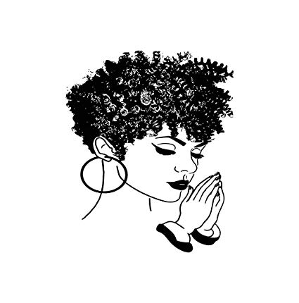 Black woman praying clipart svg royalty free download Amazon.com: EvelynDavid Black Women Praying Stylish Princess ... svg royalty free download
