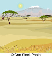 African lamd clipart png black and white stock African landscape Clip Art Vector Graphics. 4,978 African landscape ... png black and white stock