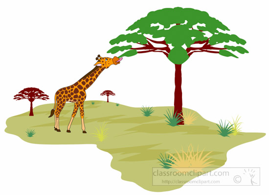African lamd clipart png free Africa clipart giraffe eating tree leaves in african land africa ... png free