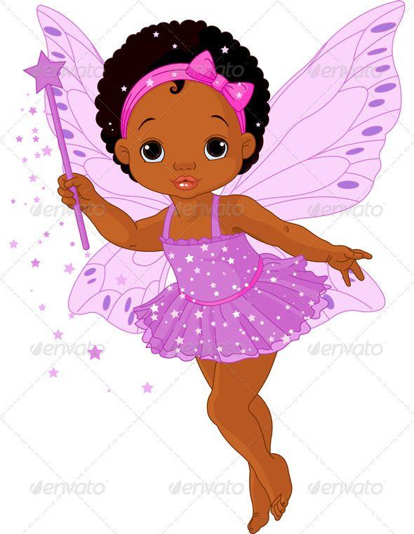 African little girl with bows in hair cartoon clipart jpg royalty free Afro Cartoon Girl | , african-american, angel, ballerina, beautiful ... jpg royalty free
