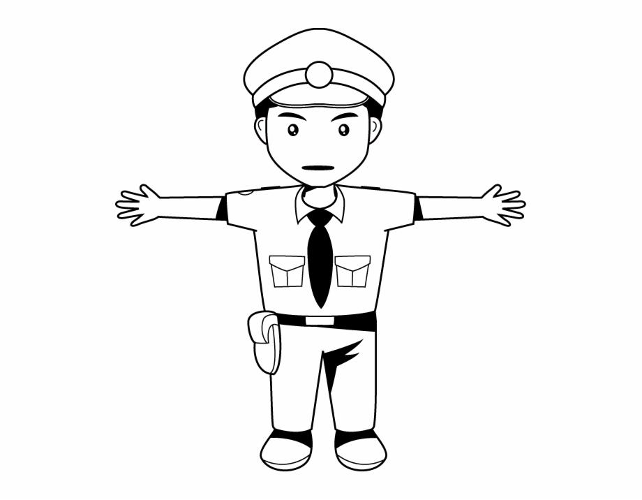 White cop clipart
