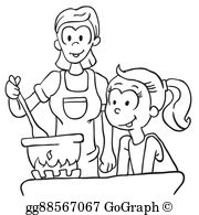 Black Mother Daughter Clip Art - Royalty Free - GoGraph picture black and white