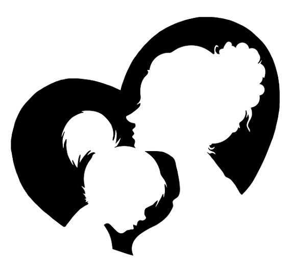 African mother daughter clipart png black and white stock Mother Cliparts Black | Free download best Mother Cliparts Black on ... png black and white stock