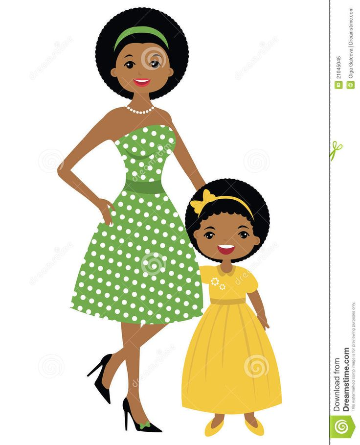 African mother daughter clipart transparent stock png clipart free download transparent stock