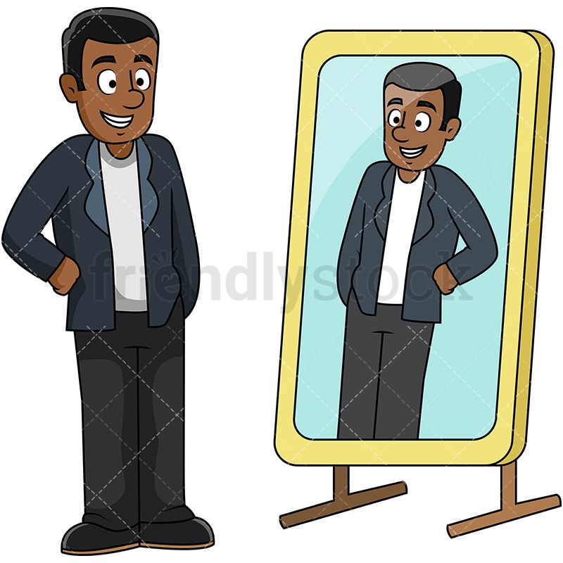 African rebels cliparts vector freeuse library Black Guy Looking Into Mirror | Vector Illustrations | Vector ... vector freeuse library