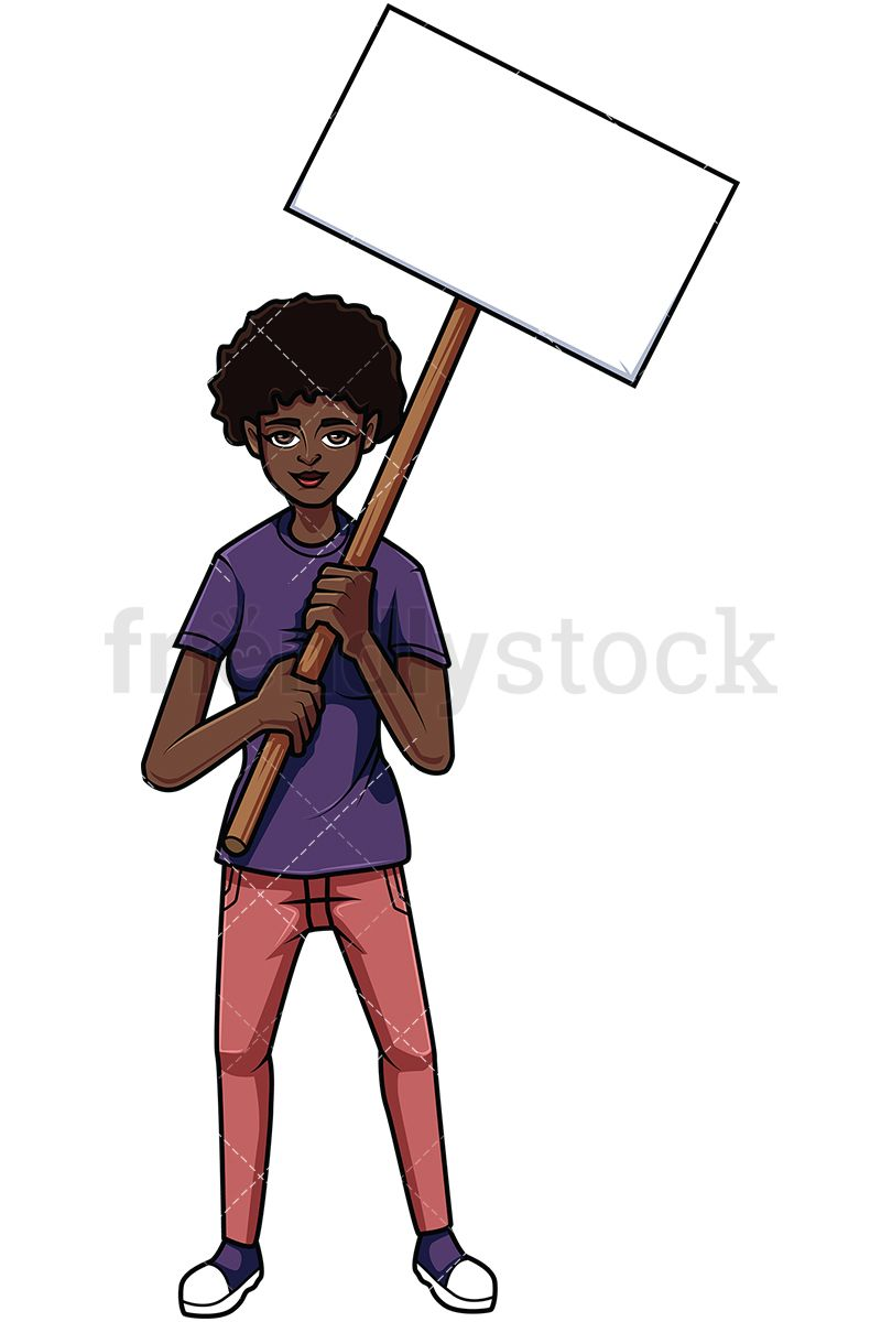 African rebels cliparts graphic black and white Protesting Black Woman | Vector Illustrations in 2019 | Vector ... graphic black and white