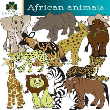 African safari images clipart graphic library library African Animals Clip Art - Serengeti Safari Clipart graphic library library