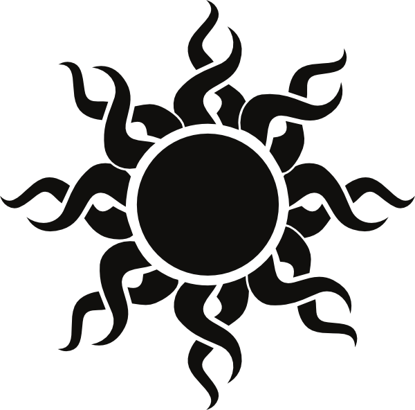 Tribal black and white clipart sun vector stock sun art | Tribal Sun clip art - vector clip art online, royalty free ... vector stock