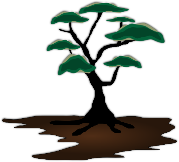 Bonsai tree clipart vector freeuse Tree Clip Art at Clker.com - vector clip art online, royalty free ... vector freeuse