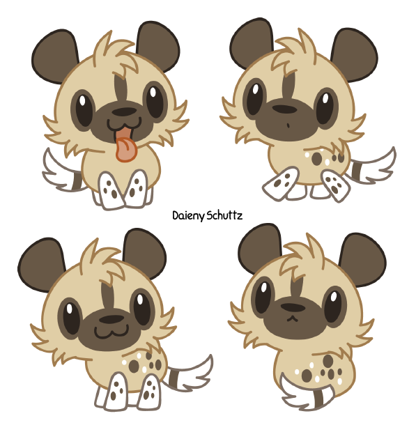 African wild dog clipart image transparent library Chibi African Wild Dog by Daieny.deviantart.com on @DeviantArt ... image transparent library