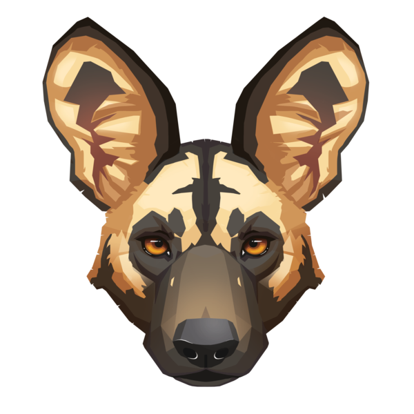 Feral dog clipart freeuse download 28+ Collection of African Wild Dog Face Drawing | High quality, free ... freeuse download