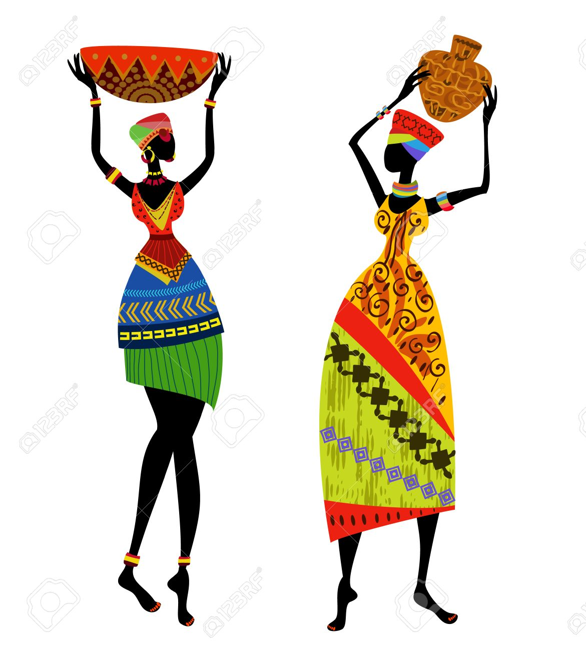 African womam clipart svg freeuse Africa Clipart African Art - Traditional African Woman Art (#2050876 ... svg freeuse