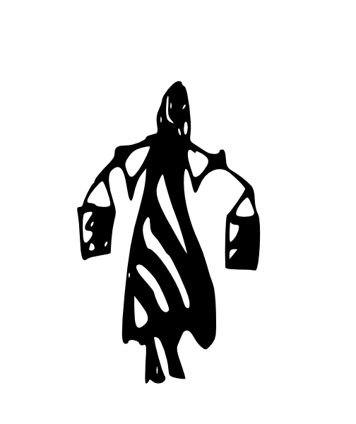 African women carrying water clipart clip art black and white download Tribal Art Lady Carrying Water Buckets On Shoulders Clip Art at ... clip art black and white download